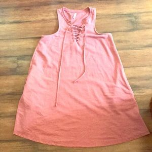 S supply pink pocketed swing dress